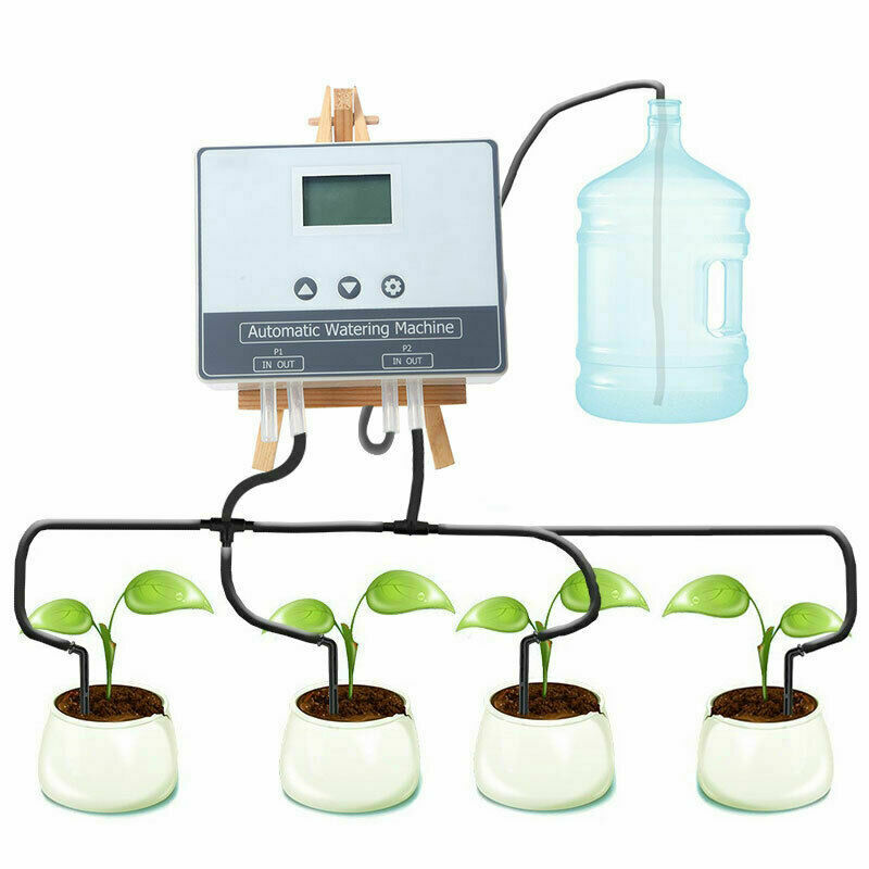 20M WIFI Automatic Watering Timer Garden Double Pump LCD Watering Device Tool