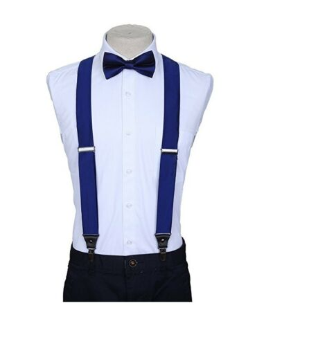 SUSPENDERS and BOW TIE COMBO SET-Tuxedo Classic Wedding Costume Tux Prom