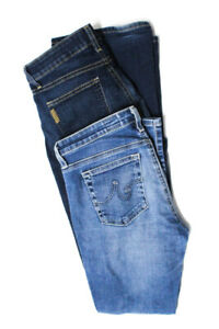 AG-Adriano-Goldschmied-Womens-The-Stilt-Crop-Cigarette-Jeans-Blue-Size-27-LOT-2