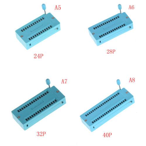 14//16//18//20//24//28//32//40 pin IC Test Universal ZIF Socket  TC