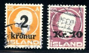 Islanda MiNr. 119-20 timbrato (z530