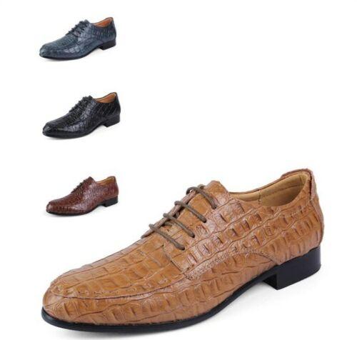 formale Up Mens pumps 5 Lace Sz 6 Shoes 12 Strappy abito Croco Business Alligator rqcwXgyqzU