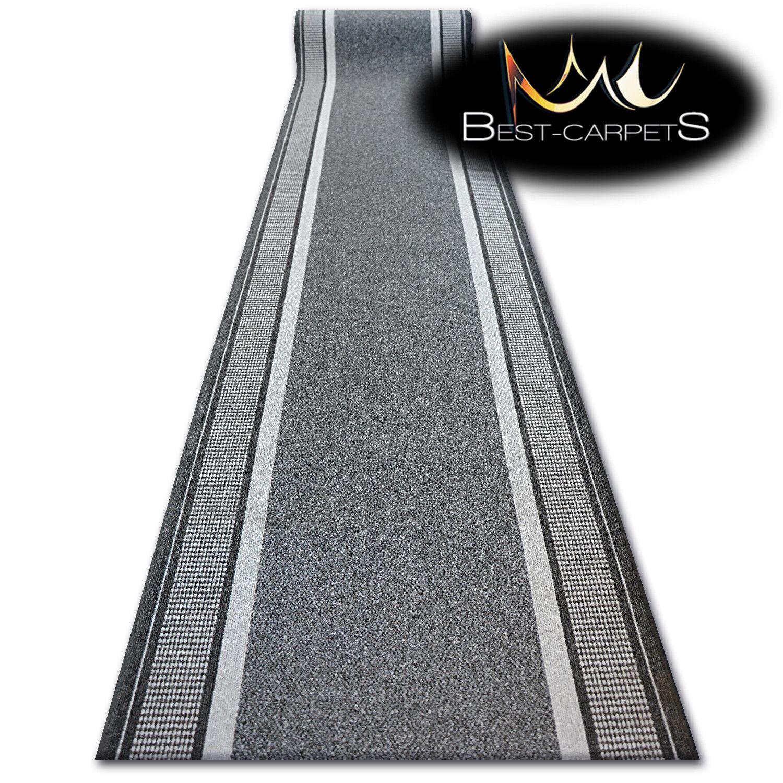 Épais Runner Tapis, Tendance Gris Moderne Escalier Anti-Dérapant Escalier Moderne largeur 67-100 cm Extra Long 24b5bc