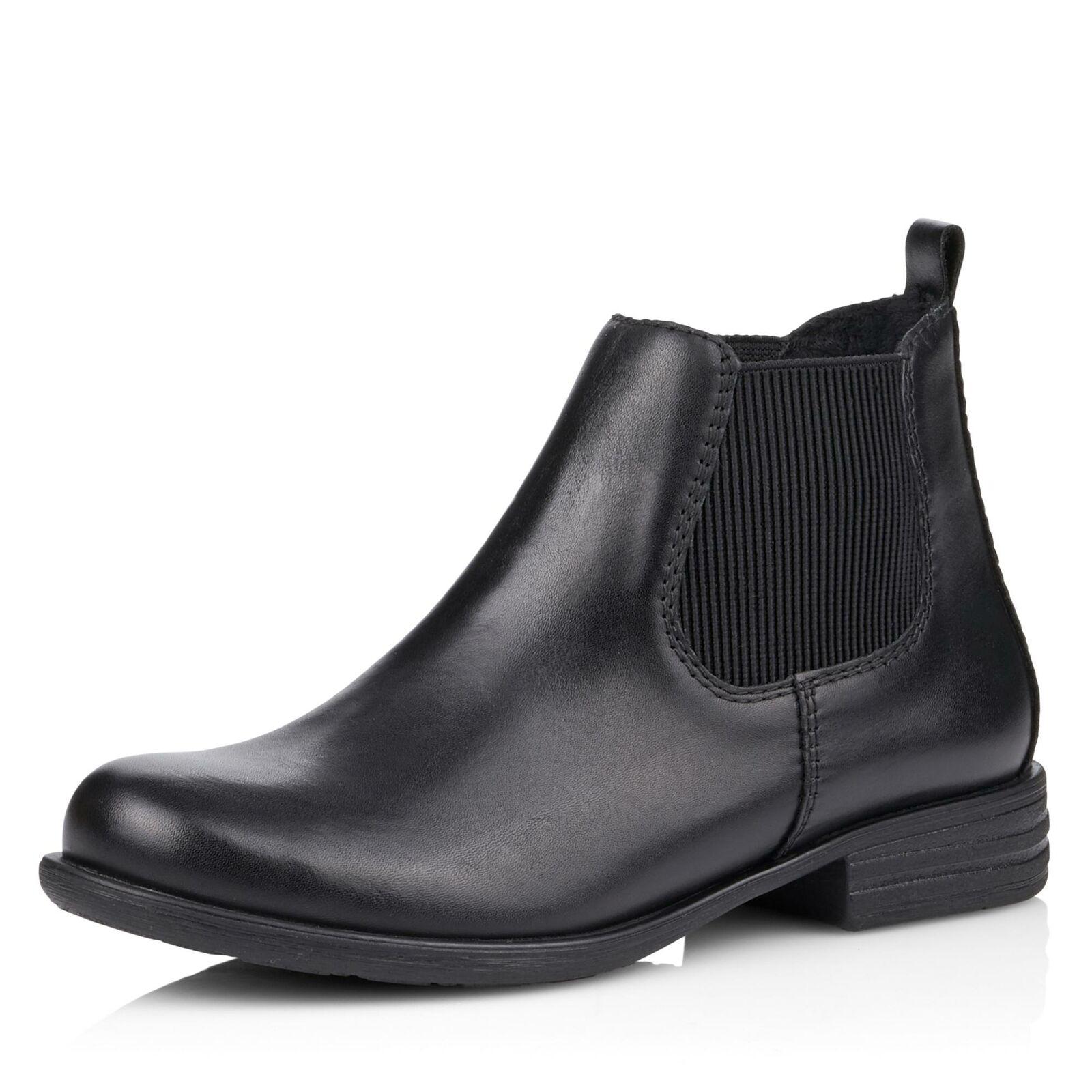 Damen Remonte Chelsea Stiefeletten schwarz Schuhe