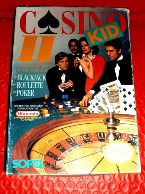 100% Authentic Casino Kid II 2 Nintendo NES  Box Only No Game Next to MINT Rare