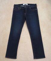 Abercrombie Womens Straight Leg Boyfriend Jeans Size 8 Dark Wash Pants