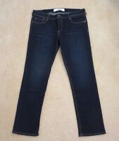 Abercrombie Womens Straight Leg Boyfriend Jeans Size 8 Dark Wash Pants