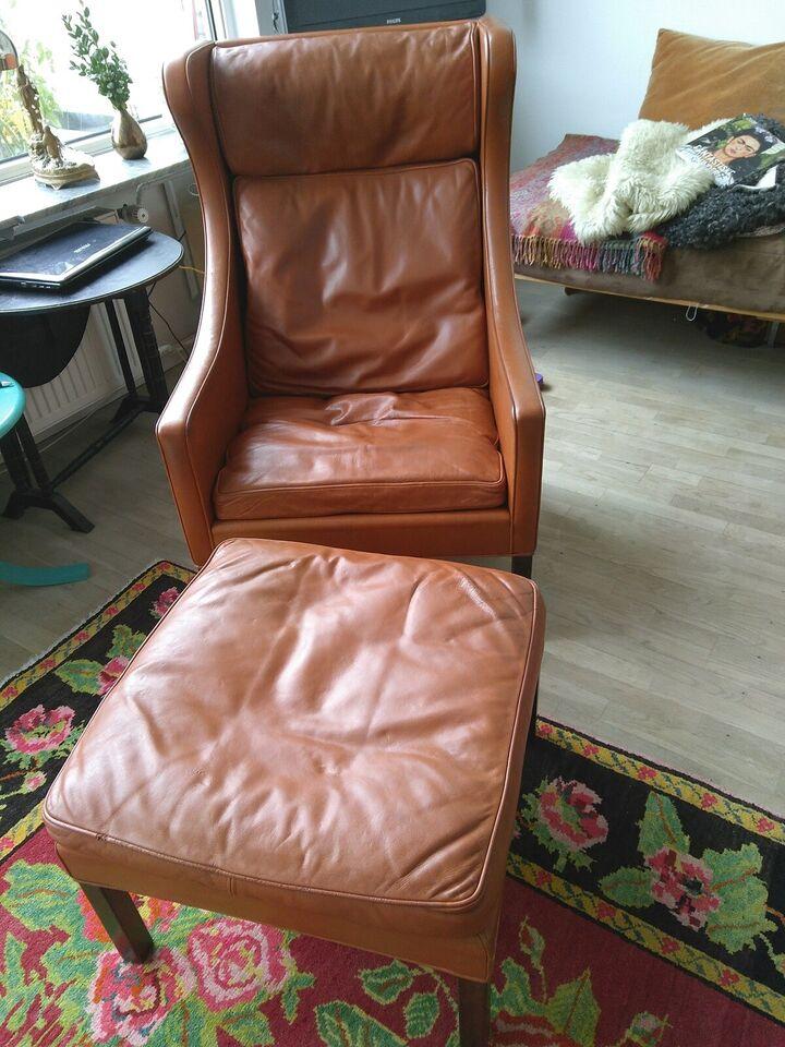 Læderlænestol, læder, Børge – dba.dk – Køb og Salg af Nyt og