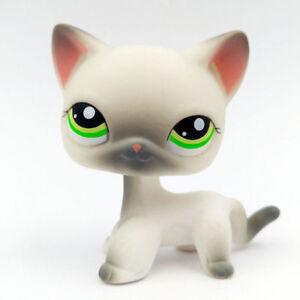 Lps Toys 125 Pet Shop Rare Grey White Short Hair Cat With Green Eyes Ebay