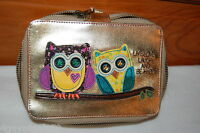 Novelty Cosmetic Case Natural Life 5x7 Owls Live Love Laugh And Be Happy