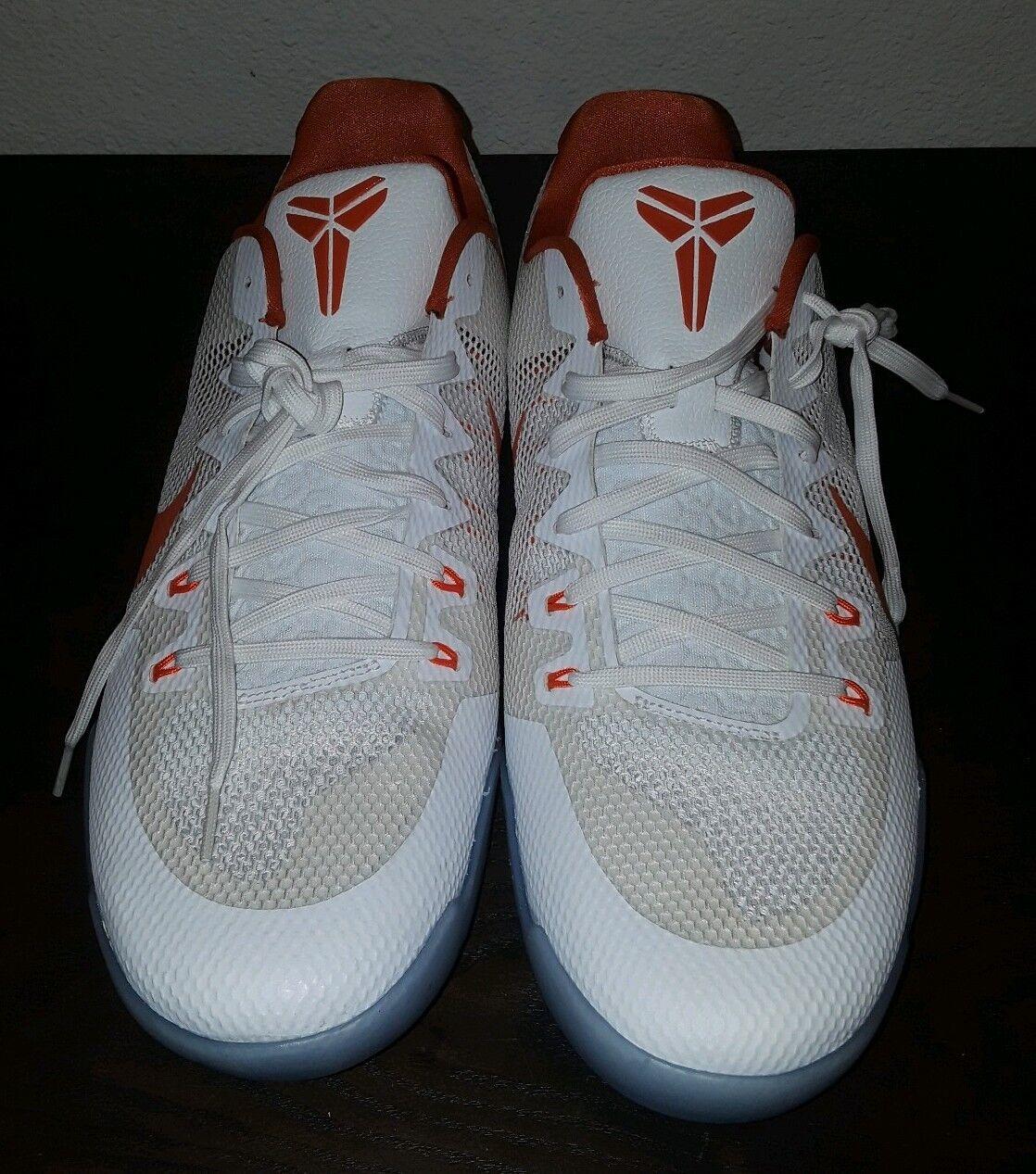 Mens Mens Mens Basketball shoes Size 17.5 Nike Kobe XI 11 TB Promo White orange 856485-180 40c676