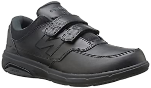 Black Leather Upper Trainers Wider Fit