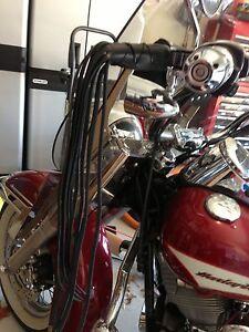 Harley Davidson Motorcycle Lever Covers Black Leather Fringe Tassels Fringed Ebay