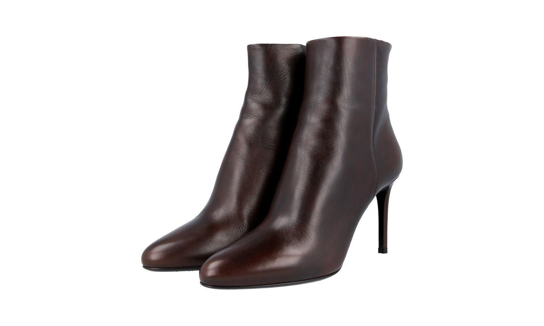 Auténtico de lujo Prada Half-Zapatos Bota de nuevo Teca 1T079G US 9 Reino Unido 6