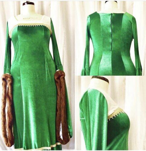 Renaissance Midieval Dress Plus Size