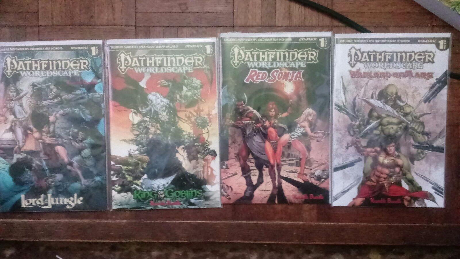 4 pathfinder exclusive comics with maps
