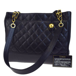 Image Is Loading Auth Chanel Cc Quilted Chain Shoulder Bag Caviar