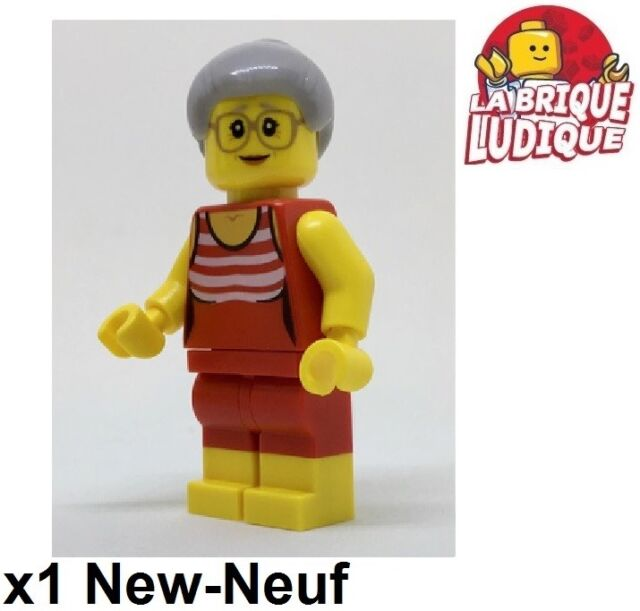 Lego - Figurine Minifig Grandmother Grand Mother Glasses Shirt cty766 60153 New