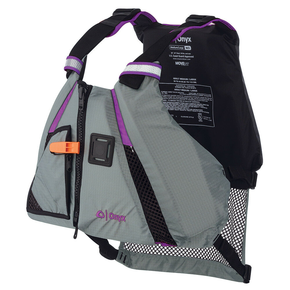 Onyx Movement Dynamic Paddle Sports Vest - Purple Grey - Medium Large