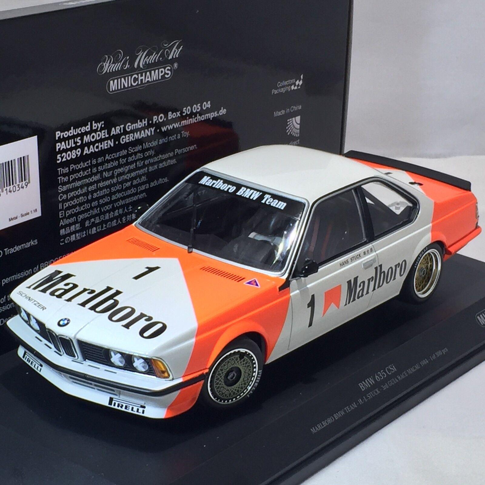 1 18 Minichamps PMA BMW 635 CSi Macau Guia Race 1984