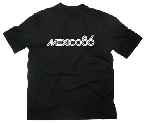 Mexico 86 WM T-Shirt Fußball Weltmeisterschaft Mexiko Logo Football Weltmeister