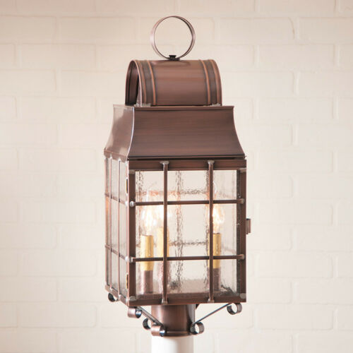 Irvins Tinware Washington Outdoor Post Lantern Antique Copper NEW Free SHIP!