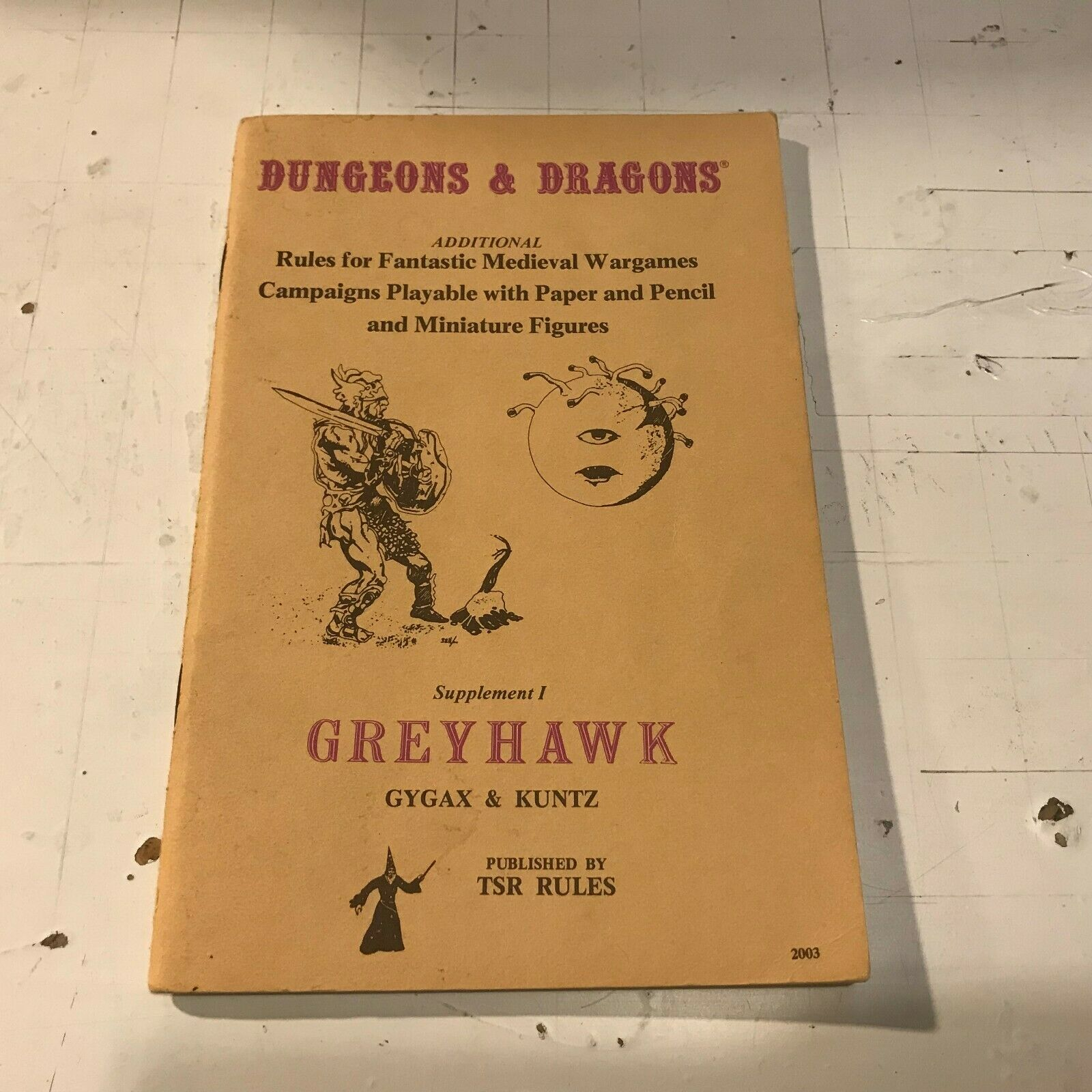 Dungeons and Dragons Supplement 1 I Greyhawk 12th p d&d 1979 Gary Gygax Kuntz pb