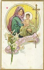 """Vintage Postcard """"A Joyous Easter"""" with Mary and Baby Jesus Also Merry Chrismas!"""