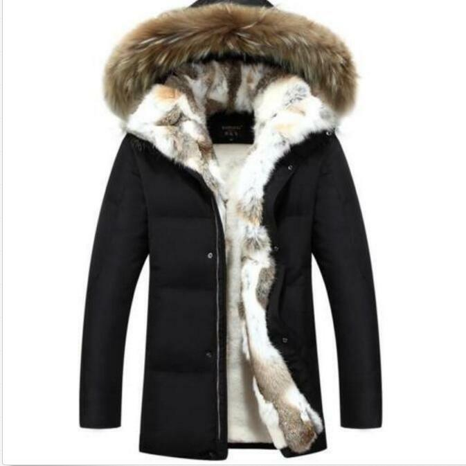 Fashion Uomo Donna Warm Luxury Fur Hooded Down Cappotto Winter Warm Donna Padded Outwears Parka 3554de