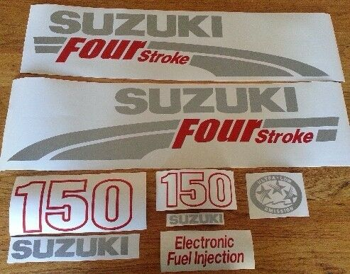 Suzuki Four stroke outboard motor cowl decals stickers graphics kits