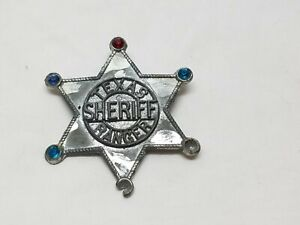 Vintage-Diecast-Texas-Ranger-Sheriff-Police-Badge-Toy-Cop-Cowboy-Western-Pin