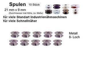 10-Spulen-aus-Metall-21-x-9-mm-270010W-8-Loch-Spule-kk