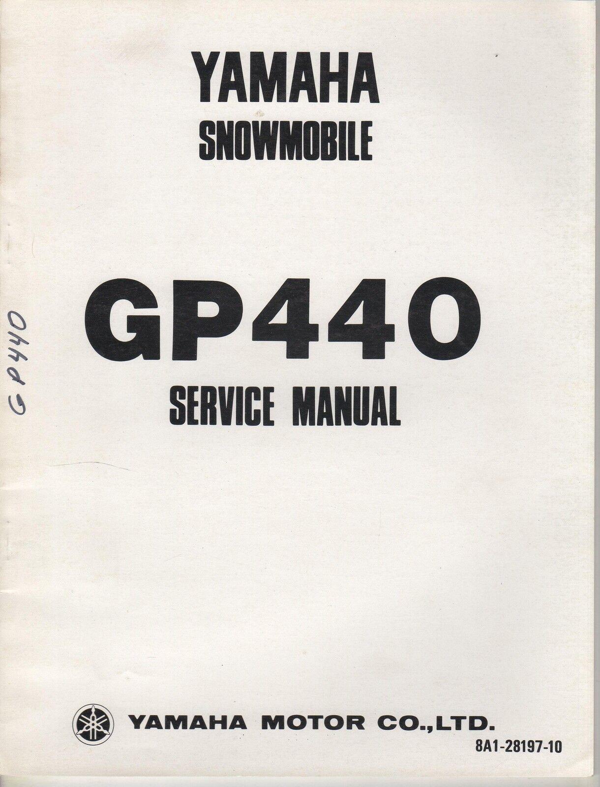 1976 YAMAHA SNOWMOBILE GP440 SERVICE MANUAL (581)