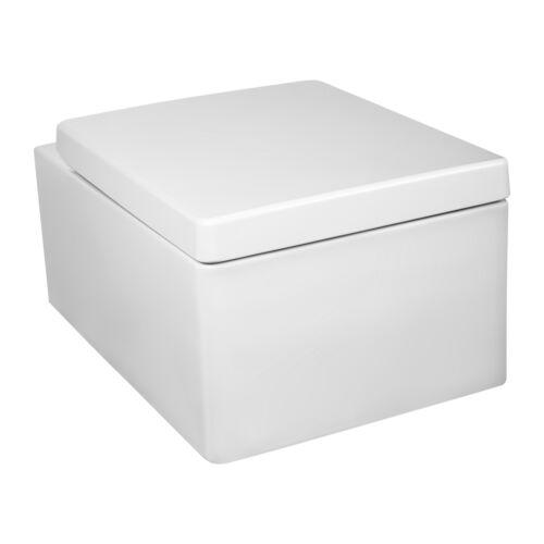 Toilette Wand WC Keramik Hängetoilette SoftClose WC-Sitz Toilettenschüss Sk001