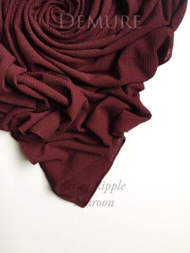 Ribbed Jersey Hijabs Scarf Maxi High Quality Stretchy Lycra Shawl Wrap Sarong