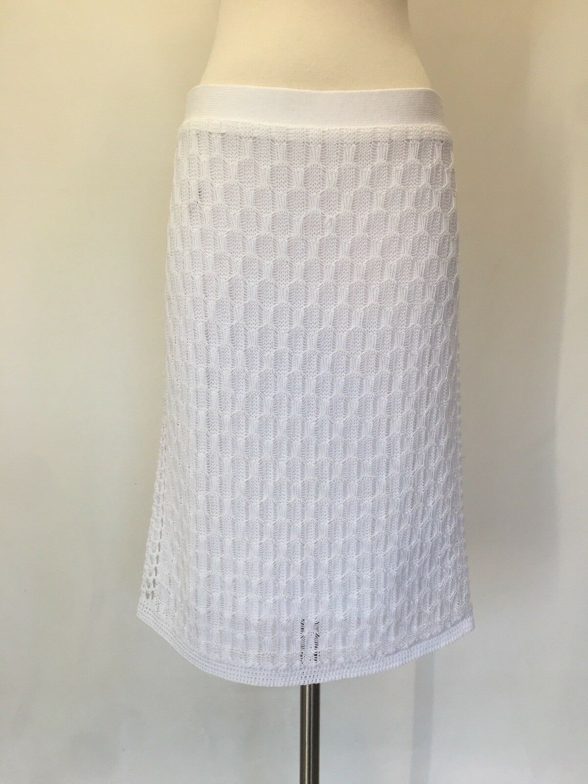 Ralph Lauren White Crochet Skirt Size L Retail  150