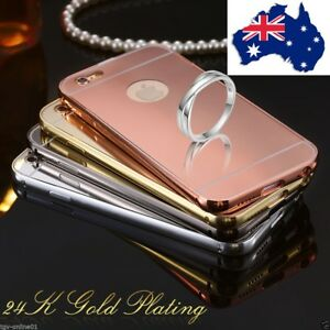 on sale b8366 455d8 Details about Luxury Aluminum thin Mirror Metal Case Cover for iPhone 4 4S  5 5S 6 6S Plus 7 AU