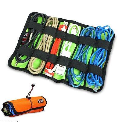 Cable Organizer System Kit Case storage Bag for USB cable Earphone Pen Batteries