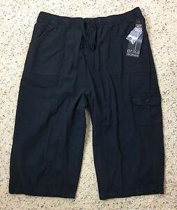 Erika Womens Capris Plus Size Black Pull on Cropped Short Pants ...
