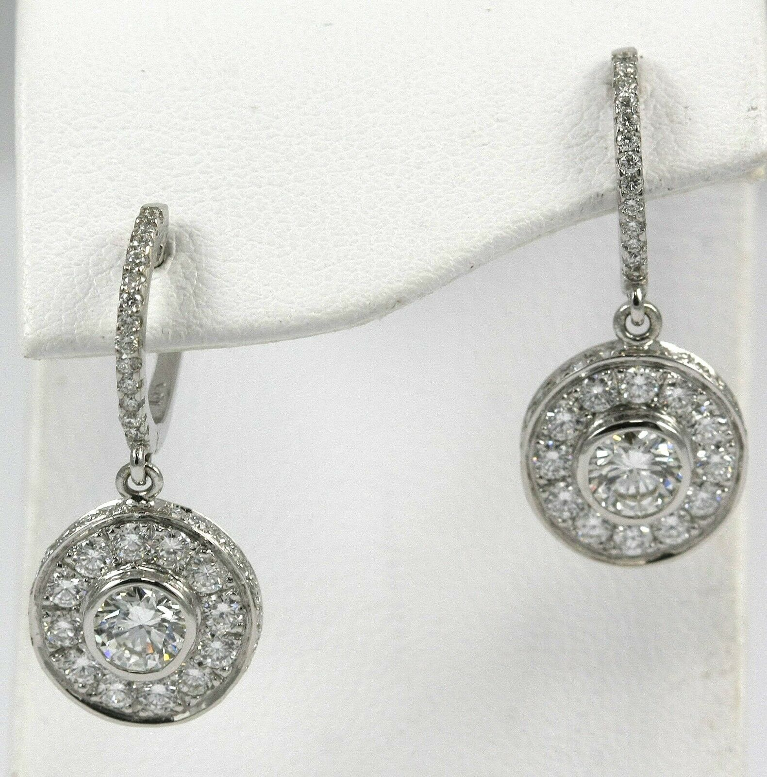 Diamond Earrings 14k WG with 2.22 carat Diamonds  Sold Out  Available in 3 weeks