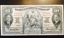 Reproduction Copy $10 1935 Banque Nationale Montréal Québec Chartered Bank Note