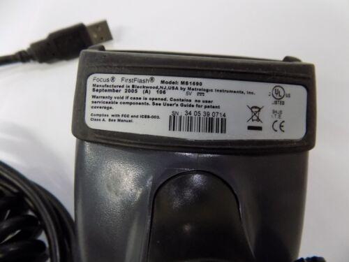 Metrologic MS1690  2D USB Scanner Barcode Datamatrix MaxiCode QR MADE 2009 Model