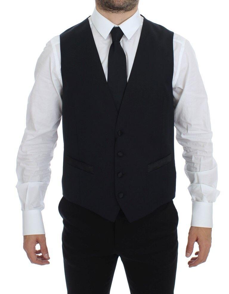 NWT 300 DOLCE & GABBANA Blau Wool Blend Formal Dress Vest Gilet IT48 / US38 / M