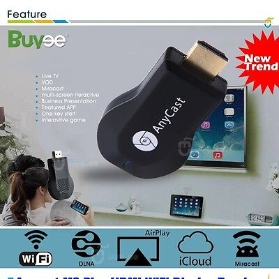 Miracast Meida Player TV Stick Google ChromeCast  WIFI Dongle para IPhones Ipad