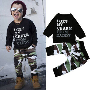 Toddler-Infant-Kids-Baby-Boy-Outfits-T-shirt-Tops-Camouflage-Pants-Clothes-Set
