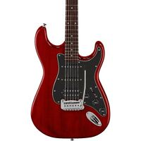 G&L Limited Edition Tribute Legacy HSS Painted Headcap Electric Guitar (Transparent Red)
