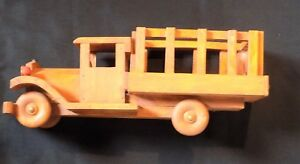 Beautiful Handcrafted Wood Toy Truck Homemade Sturdy Large Ebay