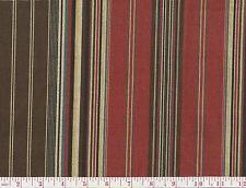 P Kaufmann Deveraux Heath Beige Red Stripe Print Upholstery Fabric BTY