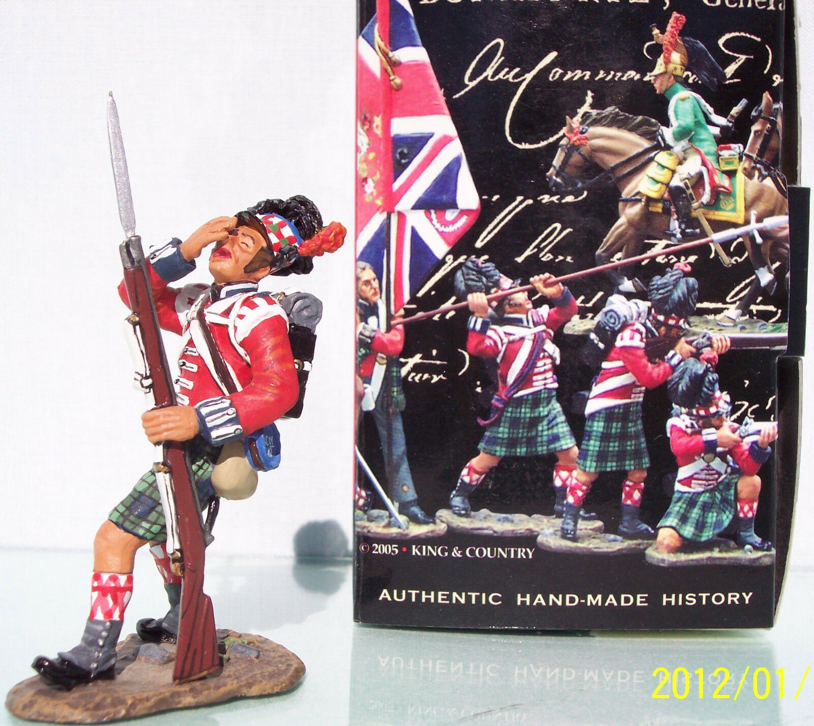 KING & COUNTRY THE AGE OF NAPOLEON NA068 BRITISH 42ND HIGHLANDER WOUNDED MIB