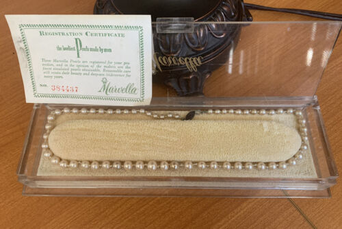 Marvella Vintage Single Strand Faux Pearl Necklace - image 1